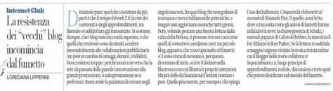 """Sono Storie su La Repubblica""""Internet Club"""" di Loredana Lipperini"""