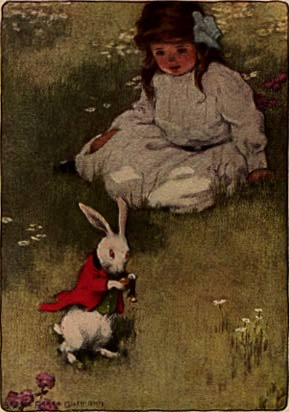 Bessie Pease Gutmann Illustrazione per Alice in Wonderland 1907
