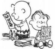 charlie brown reading comics