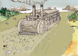 Illustrazione per Lamore ai tempi del colera di Alberto Baraya